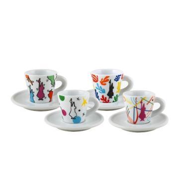 Набор Bialetti espresso arte 4 кофейные пары