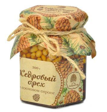 Сосновый сироп Сибирский Кедр с ядром кедрового ореха / 500 г