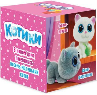 Драже сахарное с игрушкой Danli Веселые кубики Котики, 10 гр., картонная коробка