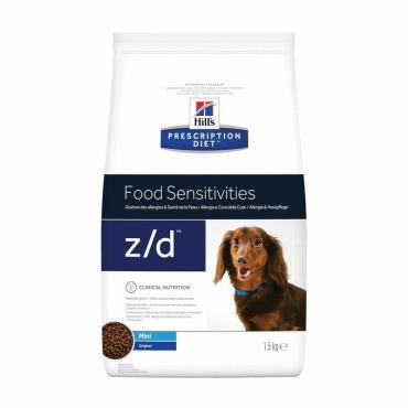 Корм сухой для собак мелких пород, при пищевой аллергии Hill's Science Plan Prescription Diet z/d Mini, 1,5 кг., дой-пак
