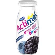 Кисломолочный напиток Actimel черника - ежевика 2,5% обогащенный L.CASEI IMUNITASS и витаминами С, В6 D3