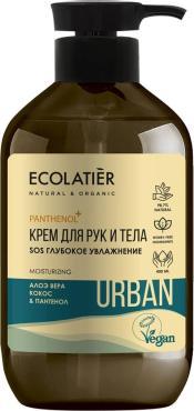 Крем для рук и тела, Ecolatier Urban SOS Глубокое увлажнение, 400 мл., пластиковая бутылка