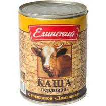 Каша перловая Елинский с говядиной Домашняя