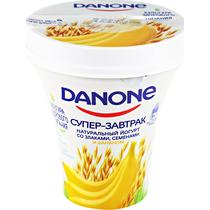 Данон Йогурт питьевой Банан злаки семена 2,6% 235г Ст. ГК12