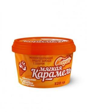 Сгущенка мягкая карамель Сладеж, 320 гр., пластиковый стакан