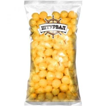 Шарики кукурузные со вкусом сыра, Штурвал, 150 гр, пакет