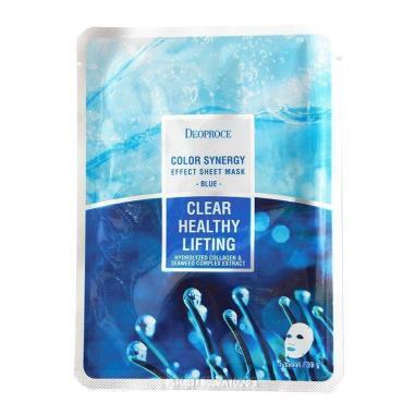 Маска тканевая Deoproce Color Synergy Effect Sheet Mask Blue, 30 гр., сашет