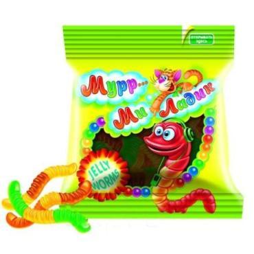 Мармелад жевательный в ассортименте Jelly bears Мурр ми ладик, 140 гр., пластиковый пакет