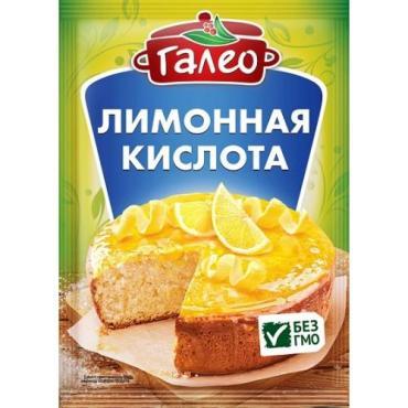 Приправа Лимонная кислота, Galeo, 14 гр., пластиковый пакет