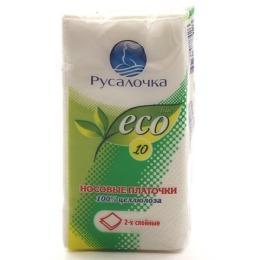 Носовые платочки двухслойные Ecoline, Русалочка, 100 гр., пластиковый пакет