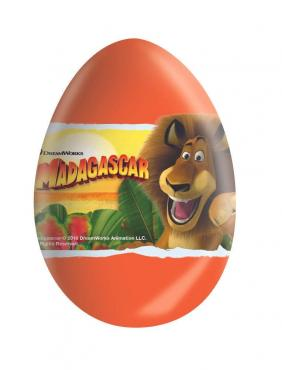 Шоколадное яйцо с сюрпризом Мадагаскар, , Zaini, 20 гр., ПЭТ