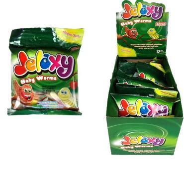 Жевательный мармелад с фруктовым соком Jelaxy Baby Worms, 80 гр., пластиковый пакет