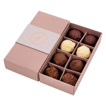 Конфеты трюфель в наборе Fresh Cacao Ассорти, 100 гр., картонная коробка