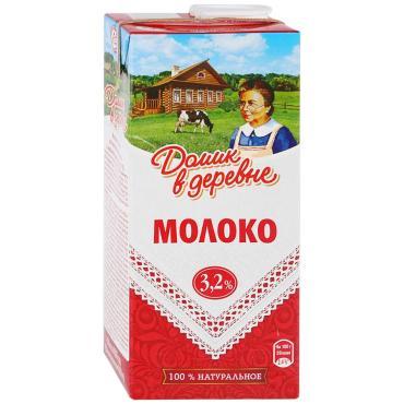 Молоко 3,2% Домик в деревни 950 гр., тетра-пак