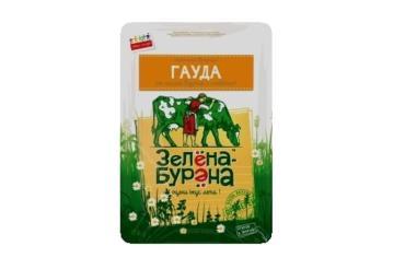 Сыр слайсы 48%, Зелёна-Бурёна Гауда, 125 гр., вакуумная упаковка