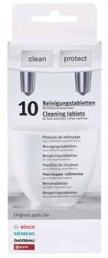 Таблетки для очистки кофемашин 10 шт., Bosch TCZ 8001, картонная коробка
