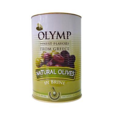 Маслины Каламата в рассоле, Olymp, 2.5 кг., жестяная банка