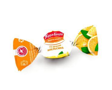 Мини-карамель Жили-Были леденцовая Апельсин