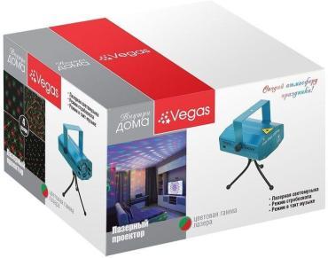 Лазерный проектор, 4 типа проекций, 2 режима работы, Vegas, 390 гр., карттонная коробка
