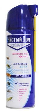 Аэрозоль от насекомых универсальный, без запаха, Чистый дом, Super 400 мл.,