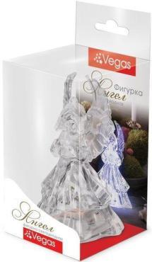 Фигура светодиодная, размер 5 х 9, 5 см., свет мультиколор, Vegas Ангел, 50 гр., пластиковая коробка