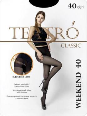 Колготки женские, цвет nero, размер 3, 40 den, TEATRO Weekend 40, пластиковый пакет