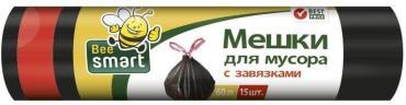 Мешки для мусора 60 л., с завязками 15 шт., BeeSmart 172 гр.