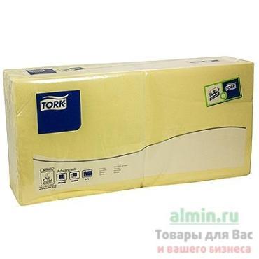 Салфетка бумажная 33х33 см., 2-слойная шампань 200 шт., Tork SCA, пластиковый пакет