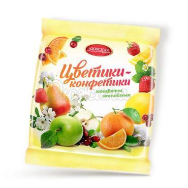 Конфеты желейные Азовская кондитерская фабрика Цветики-конфетики, 1 кг., флоу-пак