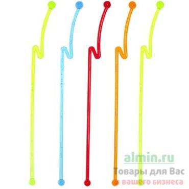 Размешиватель декоративный 210 мм., пластик разноцветный 100 шт., Papstar Молниям, картонная коробка