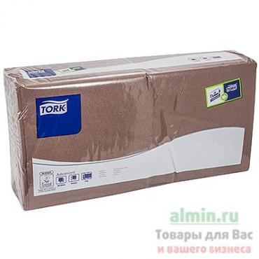 Салфетки бумажные 33х33 см., 2-слойные шоколад Torg, пластиковый пакет