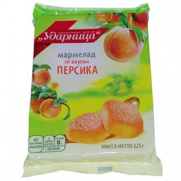 Мармелад желейный со вкусом Персика, 325 гр., флоу-пак