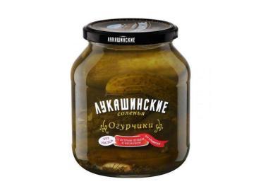 Огурчики Лукашинские маринады соленья с острым перцем и чесноком по-армянски, 670 гр, стекло