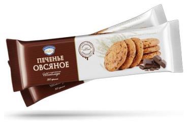 Печенье овсяное с кусочками шоколада Полет, 300 гр., флоу-пак