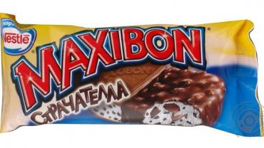 Мороженое Сэндвич Maxibon Страчателла, 140 мл., флоу-пак