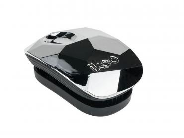 Расческа для волос, серый, Ikoo, Pocket black - prima ballerina 200 гр., картонная коробка