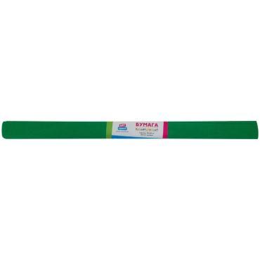 Бумага крепированная ArtSpace, 50*200см, 30г/м2, зеленая, в рулоне