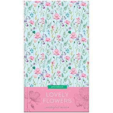 Телефонная книга А5, 80л., 7БЦ, OfficeSpace Цветы. Lovely flowers, выборочный уф-лак, с высечкой