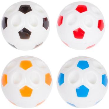 Точилка пластиковая ArtSpace Мяч, 1 отверстие, ассорти, пакет, европодвес
