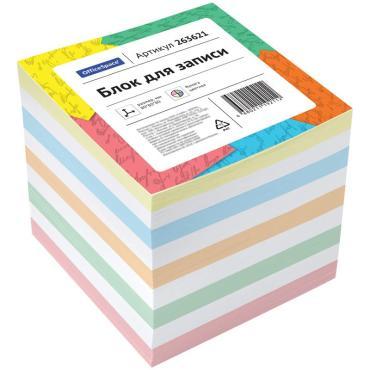 Блок для записи OfficeSpace, 8*8*8см, цветной