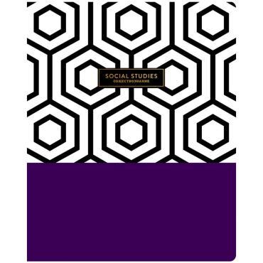 Тетрадь предметная 48л. Greenwich Line Trendy graphic - Обществознание, софт-тач, тиснение, 70г