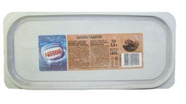 Мороженое Шоколадное Nestle, 3,5 л., пластиковый контейнер