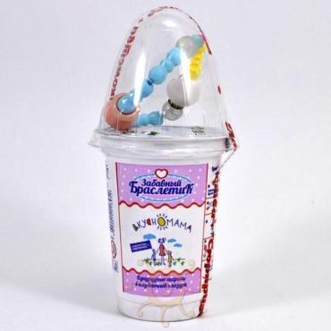 Шарики кукурузные в клубничной глазури Вкусномама Забавный браслетик , 12 гр., пластиковый стакан