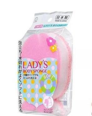 Губка для тела Kokubo Рыбка розовая, пластиковый пакет