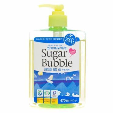 Гель для мытья посуды с ароматом Оливы Sugar Bubble, 470 мл., пластиковая бутылка