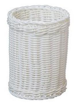 Корзина пластиковая 11,5х15 см., белый JQ-1018
