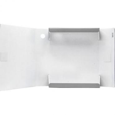 Папка на завязках 3 клапана лакированная 240*75*305 мм., серая Sponsor 10470