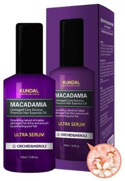 Сыворотка для волос с ярким запахом фруктов Kundal Makadamia Ultra Serum Орхидея Нероли, 100 мл., картонная коробка