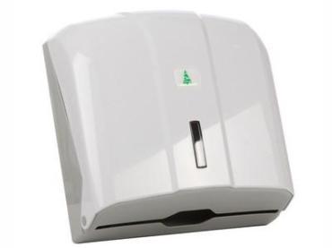 Диспенсер для бумажных полотенец белый на 300 шт., Nowa KH300, Картонная коробка