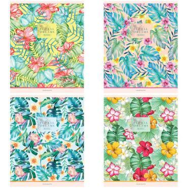 Тетрадь 80л., А5, линия ArtSpace Цветы. Flowers for dreams